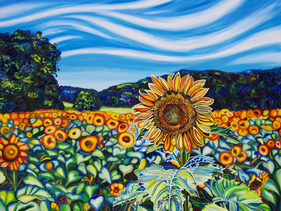 SUNFLOWER LOVE • 30 inches x 40 inches • ©2013 Marie Scott
