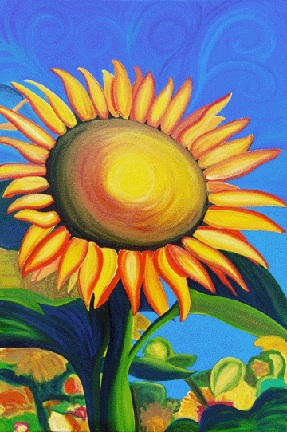 SUNFLOWER • 36 inches x 24 inches • ©2006 Marie Scott
